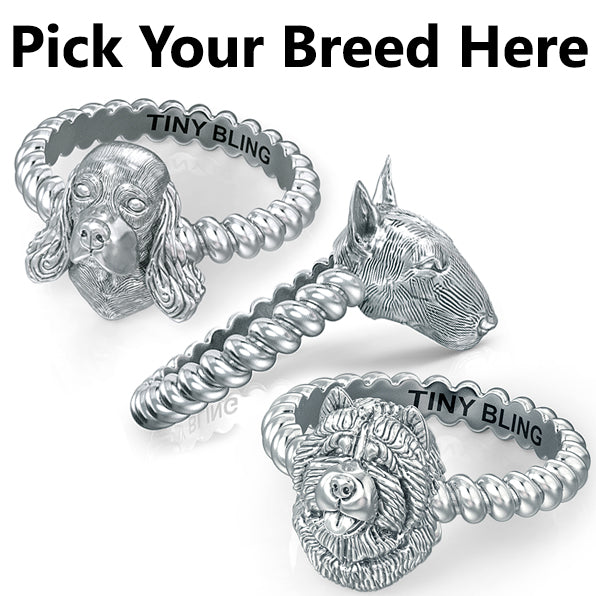All Dog Breeds- Breed Twisted Wire Rope Ring