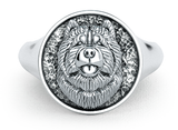 Chow Chow Classic Round Signet Ring