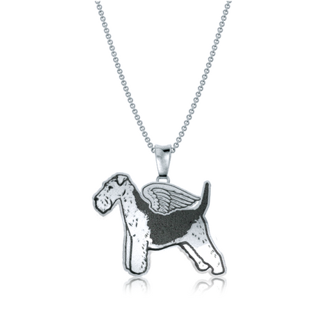 Welsh Terrier Angel Wings Pendant