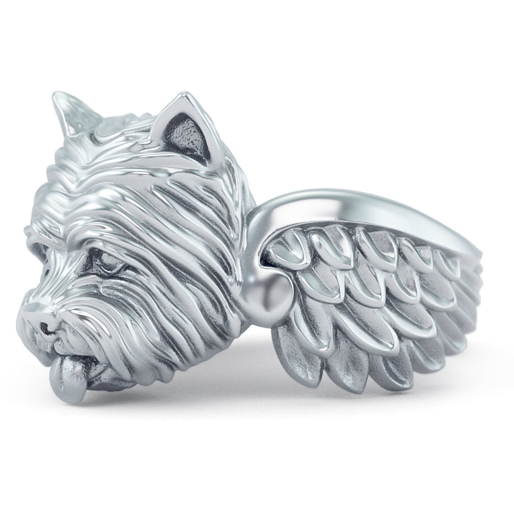 West Highland White Terrier Angel Wings Memorial Ring