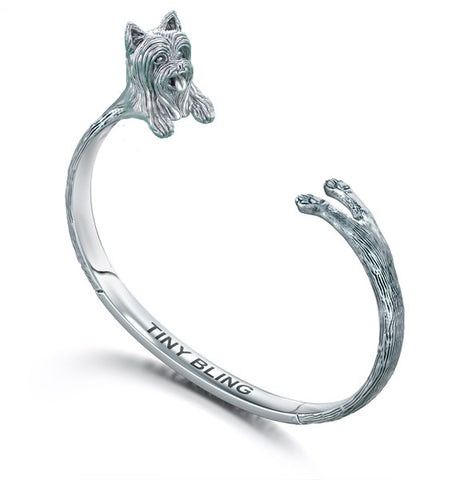 Yorkshire Terrier Breed Jewelry Cuddle Cuff Bracelet