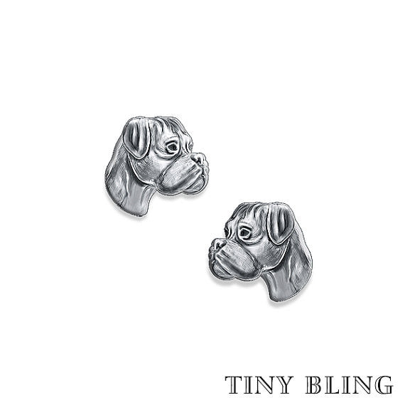 Boxer Breed Face Earring Studs