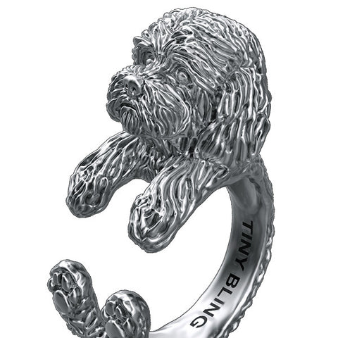 Cockapoo Jewelry Cuddle Wrap Ring - TINY BLING