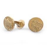 Airedale Terrier Disk Cufflinks - TINY BLING