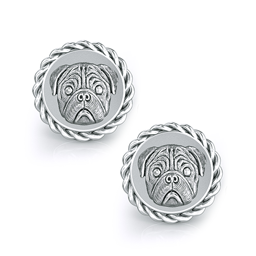Pug Dapper Cufflinks