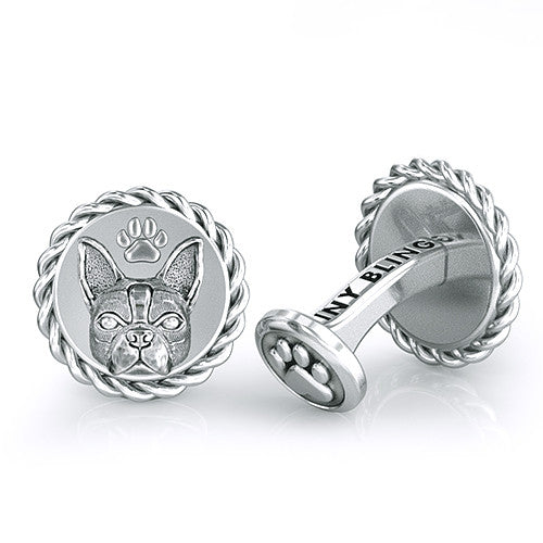 Boston Terrier Dapper Cufflinks