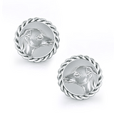 Greyhound Embossed Dapper Cufflinks