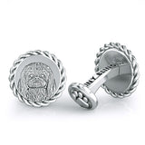 Pekingese Embossed Dapper Cufflinks