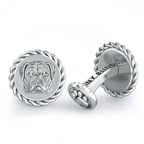 Rottweiler Embossed Dapper Cufflinks