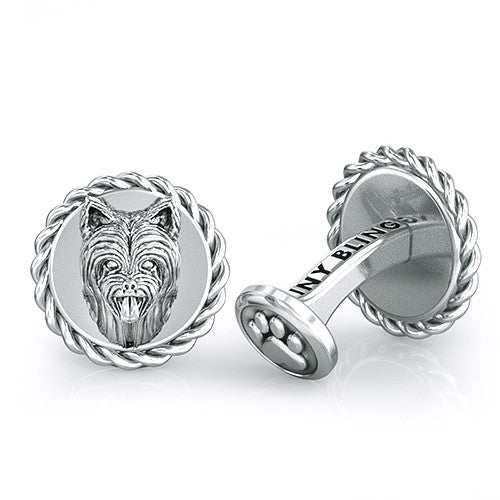 Yorkshire Terrier Long Hair Dapper Cufflinks