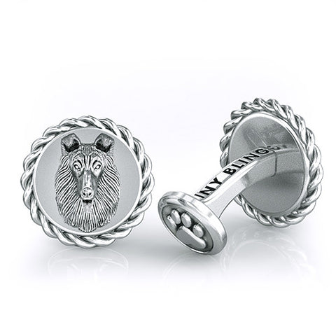 Rough Collie Dapper Cufflinks