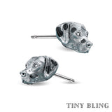Dalmatian Face Earring Studs - TINY BLING