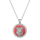 Australian Shepherd Posh Enamel Necklace