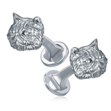 Fluffy Persian Cat Breed Puppy Face Cufflinks