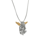 Happy Angel Hippo Diamond Necklace