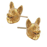 Corgi Puppy Face Earring Studs