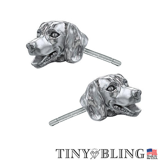 Dachshund Puppy Face Earring Studs