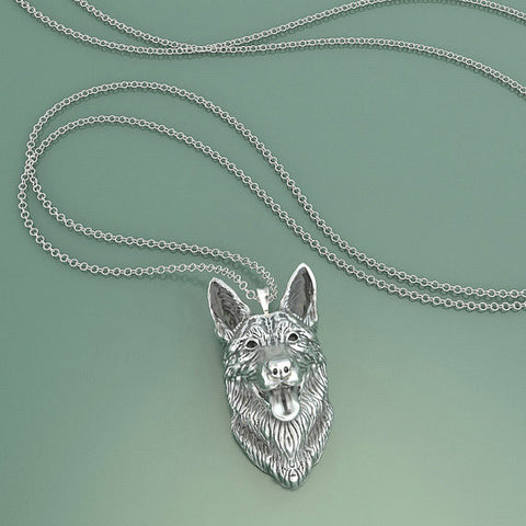 Belgian Malinois Breed Jewelry Face Pendant - TINY BLING