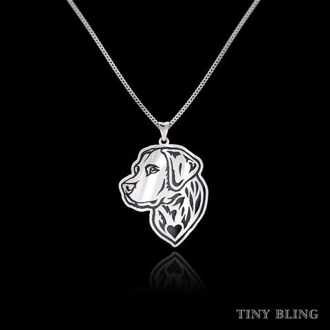 Labrador Retriever Jewelry Flat Pendant Necklace - TINY BLING