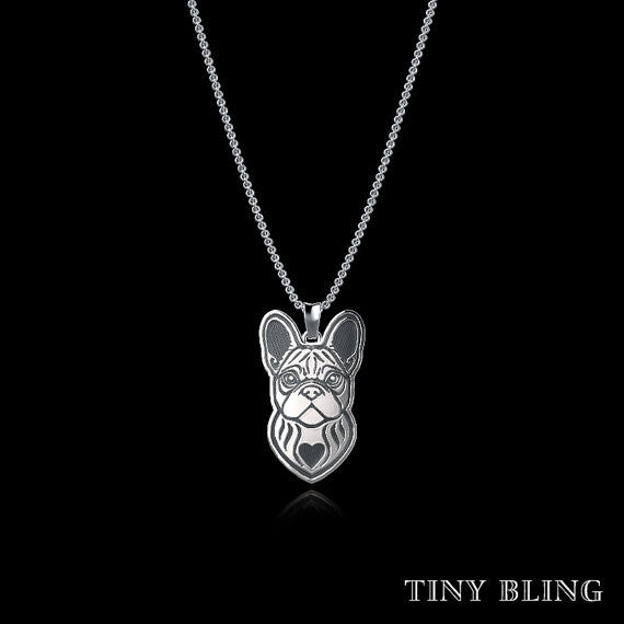 French Bulldog Breed Jewelry Necklace - TINY BLING
