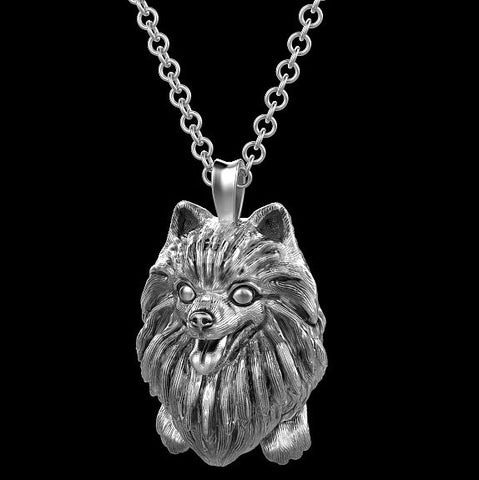 Pomeranian Jewelry Puppy Face Charm - TINY BLING