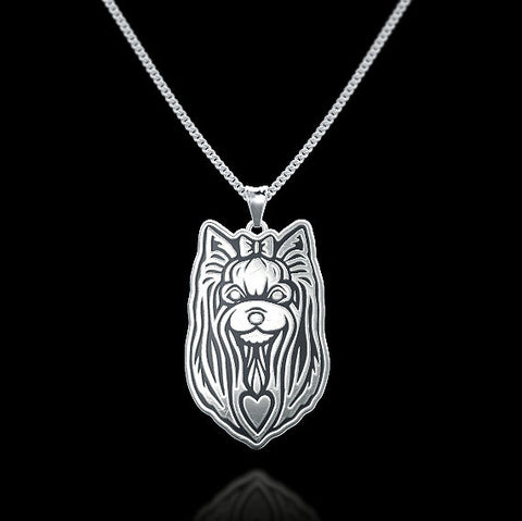 Yorkshire Terrier Breed Jewelry Necklace - TINY BLING