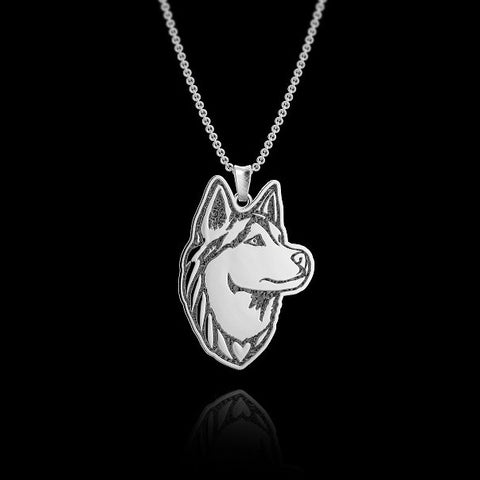 Siberian Husky Breed Jewelry Necklace - TINY BLING