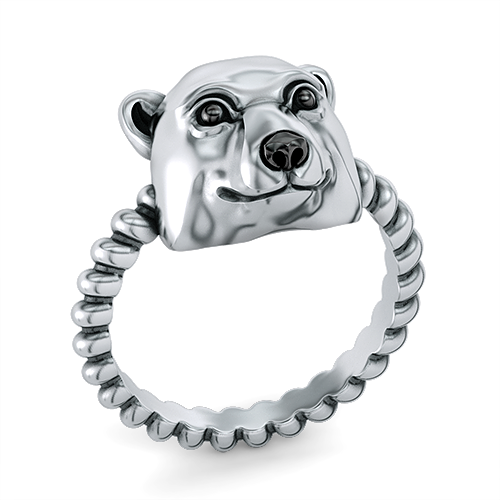 Polar Bear Twisted Wire Rope Ring-1