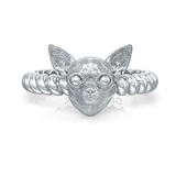 Chihuahua Breed Twisted Wire Rope Ring