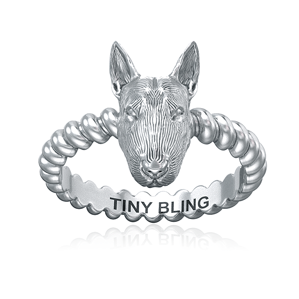 Bull Terrier Breed Twisted Wire Rope Ring