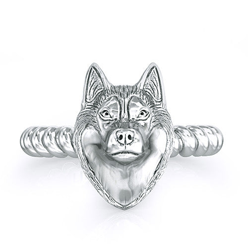 Siberian Husky Twisted Wire Rope Ring