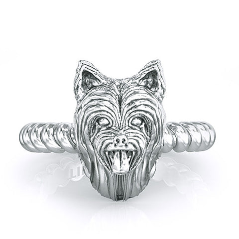 Yorkshire Terrier Long Hair Twisted Wire Rope Ring