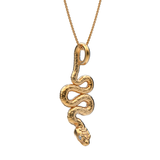 Diamond Snake Charmer Pendant and Necklace - TINY BLING
