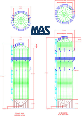 Tower Dryer Drawing and Design