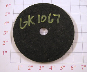 "6"" O.D. rubber sweep wheel"