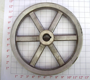 "12"" x 1-1/4"" x 2Belt  Alum. Pulley"