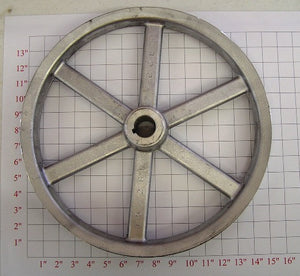 "15"" x 1-1/4"" x 2Belt  Alum. Pulley"