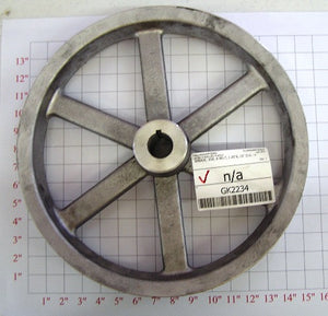 "15"" x 1-1/4"" x 3Belt  Alum. Pulley"