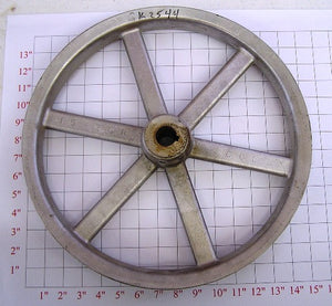 "15"" x 1"" x 2Belt  Alum. Pulley"