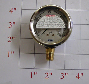 0-30# LP Pressure Gauge, Liquid Filled