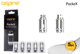 Aspire PockeX Replacement Coils (0.6ohms) 5pc/Pk - serrano vape