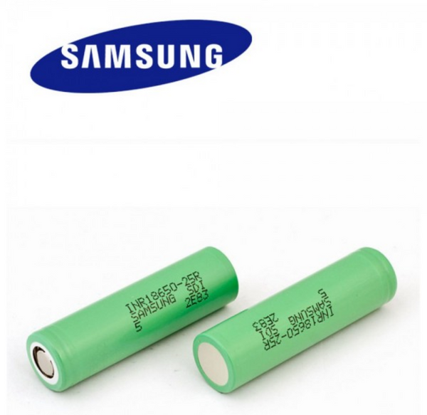 Samsung INR18650-25R Battery Genuine 20A (100A pulse) 2500mAh - Flat Top - serrano vape