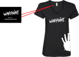 WarPaint Apparel Ladies T's V Neck - serrano vape