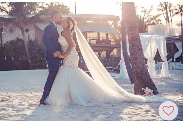 Josephine and Enrique's Glamorous Beach Wedding