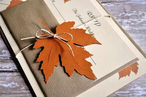 Fall Wedding Invitation Trends