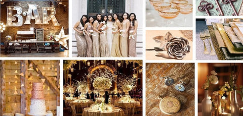 Metallic Wedding Colors