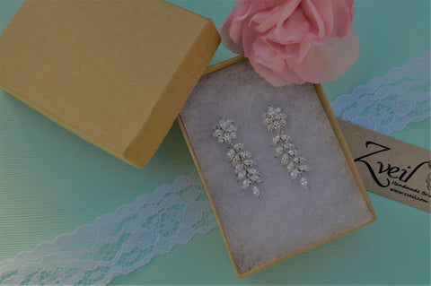 Orchid Bridal Earrings