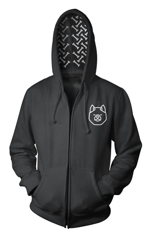 Hoodie for Akita Lovers - Bones in the Hood