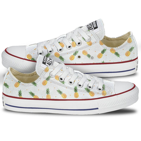 Custom Converse Pineapple Print Shoes