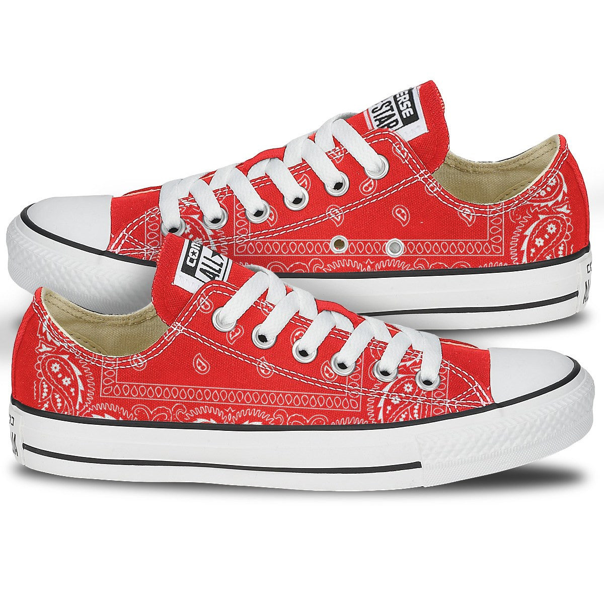 Red bandana converse sneakers red paisley bandana converse sneakers nvjuhfo Gallery